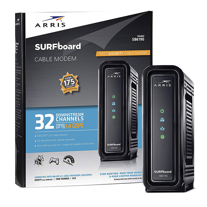 SURFboard SBG7580-AC DOCSIS 3.0 Cable Modem & Wi-Fi Router