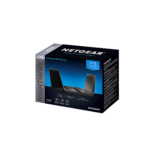 AX6000 WiFi Router (RAX80) Nighthawk® 8-Stream Dual-Band WiFi 6 Router